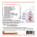 Tierrasanta Holidays - back cover